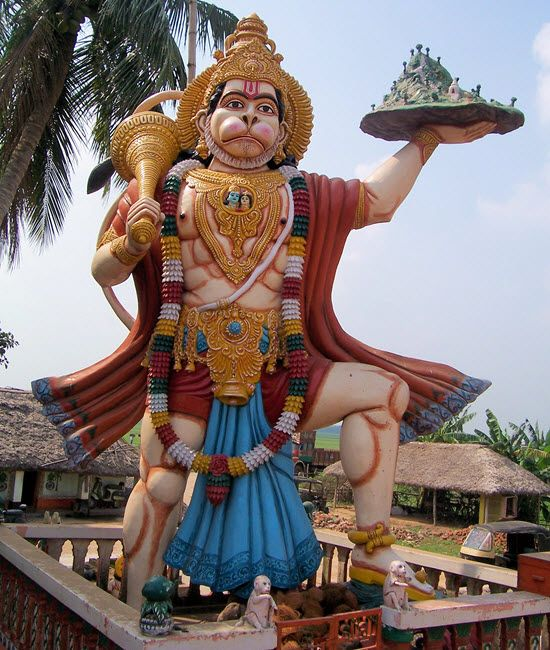 Lord Hanuman moved an entire Mountain to heal Laxman