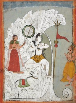 Lord Shiva holding Goddess Ganges